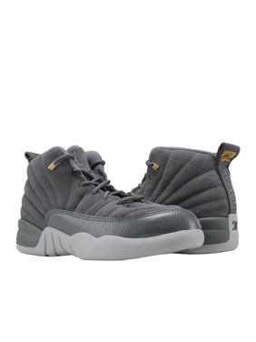 Product Image Nike Jordan 12 Retro BP Dark Grey Wolf Little Kids Basketball  Shoes 151186-005 ced7310bc