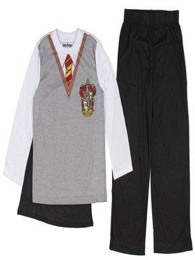 Boy's Harry Potter Hogwarts Uniform Pajama Sleep Set with Cape (Big Boys & Little Boys)