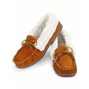 8d9da93adbb Faux Suede Plush Lined Moccasins Shoes