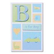 American Greetings B Is For Boy New Baby Congratulations Card
