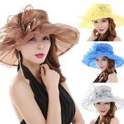 6414dd104b1 Girl12Queen Women s Fashion Summer Church Kentucky Derby Cap British Tea  Party Wedding Hat