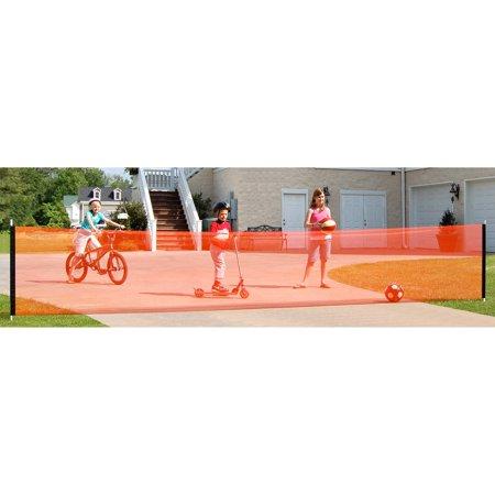 KidKusion Driveway Safety Net, 18 ft, (Aluminum Driveway Gates)
