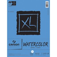 Canson Watercolor Paper Pad, 30-Sheet, 9-Inch by 12-Inch, X-Large