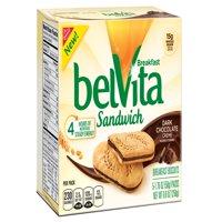 (2 pack) Belvita Dark Chocolate Creme Breakfast Biscuit Sandwiches, 8.8 Oz