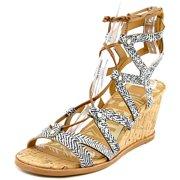 51c108c8e65 Dolce Vita Lynnie Women Open Toe Leather Black Wedge Sandal