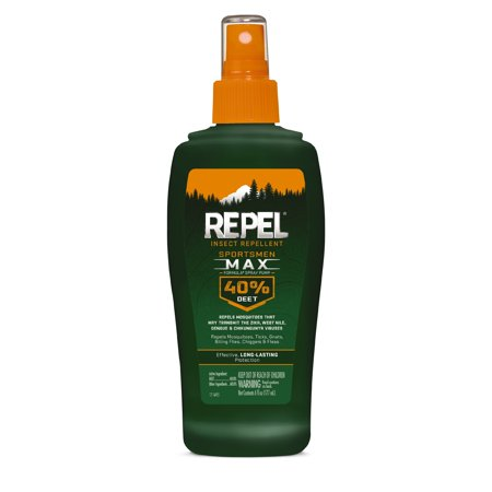 Repel Insect Repellent Sportsmen Max Formula Spray Pump 40% DEET, 6-fl