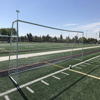 PASS Premier® 24 X 8 FT. Official Regulation MLS/FIFA/EPL Steel Soccer Goal w/ Nets, Stakes, Clasps, & Re-Usable Ties