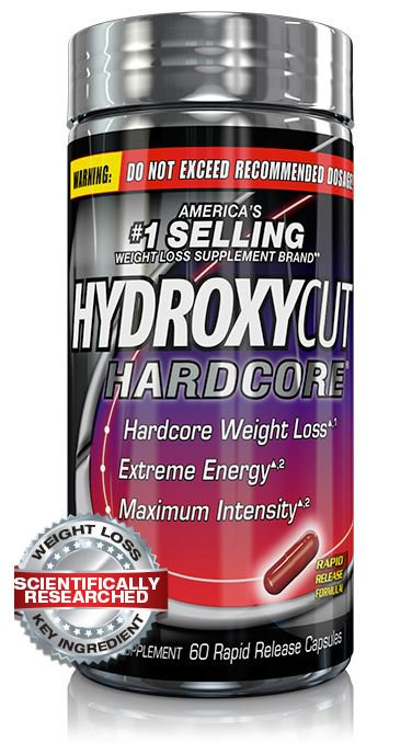 Hydroxycut Hardcore Fast Acting Energy & Weight Loss Pills, 60 (Best Snacks To Lose Weight Fast)
