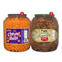 Utz Snack Barrel Variety Pack, Cheeseballs & Sourdough Special Pretzels