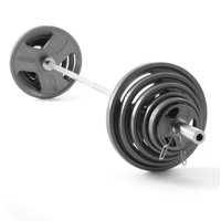 Weider Cast Iron Olympic Hammertone Weight Set, 210 Lb. or 300 Lb.