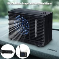 Universial 2-Speed Mini Home Car Air Conditioner Water Cooler Cooling Fan, Portable Humidifier, Purifier ICE Evaporative Cooler for Car home