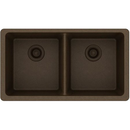 Elkay ELGU3322BK0 Gourmet e-granite Double Bowl Undermount Sink, Available in Various Colors