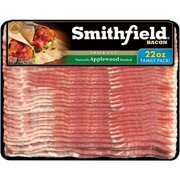 Smithfield Applewood Bacon, Thick Cut, Mega Pack, Perfect for Back to School Breakfast, 22oz