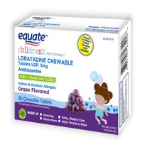 Equate Loratadine Children Chewable Tablet - Grape