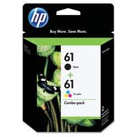 HP 61 Black & Tri-Color Original Ink Cartridges, 2-Pack (CR259FN)