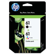 HP 61 Black & Tri-Color Original Ink Cartridges, 2-Pack (CR259FN)
