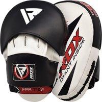 RDX Black X1B Punching Bag Heavy Training MMA Mitts Hand Wraps Kick Shield Bundle