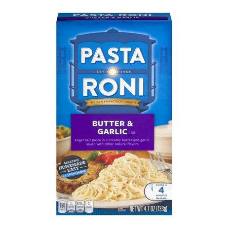 Pasta Roni Butter Garlic Angel Hair Pasta 4 7 Oz Box Walmart Com