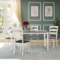 Harper&Bright Designs Wood Dining Table and Chairs 5-Piece Dining Set, Multiple Colors