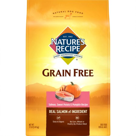 Nature's Recipe Grain Free Easy to Digest Salmon, Sweet Potato & Pumpkin Recipe Dry Dog Food,