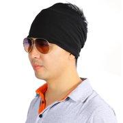 Lv. life Women Men Cotton Sport Yoga Headband Wide Elastic Stretch Gym  Running Wristband Black 5f8f0b97b10