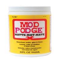 Mod Podge Fast Dry Non-Toxic Non-Flammable Tissue Glue and Glaze, 1 qt Jar, Matte