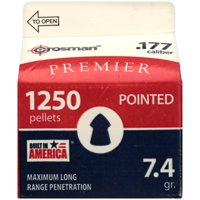 Crosman 177 Caliber Pointed Pellet 1250ct P1250