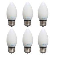 Viribright 25W Equivalent LED Light Bulb, E26 Medium Base, 2700K Warm White, 90+ CRI, Non-dimmable (6-Pack)