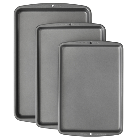 Wilton Bake It Better Non-Stick Cookie Sheet Pan Set, 3 Piece