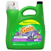 Gain + Aroma Boost Liquid Laundry Detergent, Lavender, 96 Loads 150 fl oz