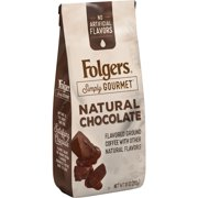 Folgers Simply Gourmet Natural Chocolate Flavored Ground Coffee, With Other Natural Flavors, 10-Ounce Bag
