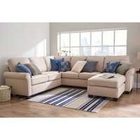 "Better Homes & Gardens Gramercy U-Configuration Sectional with 61"" Loveseat, 73"" Sofa, Corner Connector and Reversible Chaise"
