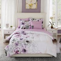 Mainstays Watercolor Floral Bed-in-a-Bag Comforter Set