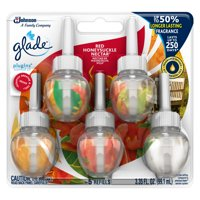 Glade PlugInsGlade PlugIns Scented Oil Refill Red Honeysuckle Nectar, Essential Oil Infused Wall Plug In, Up to 50 Days of Continuous Fragrance, 3.35 FL OZ, Pack of 5