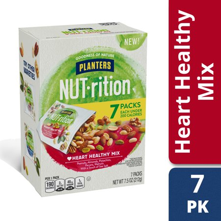 Planters NUT-rition Heart Healthy Mix with Walnuts, 7 ct - 7.5 oz Box - Healthy Halloween Food