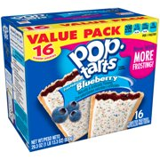 (2 pack) Kellogg's Pop-Tarts, Frosted Blueberry Flavored, 29.3 oz 16 Ct