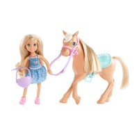 Barbie Club Chelsea Playset with 6-inch Blonde Doll & Pony