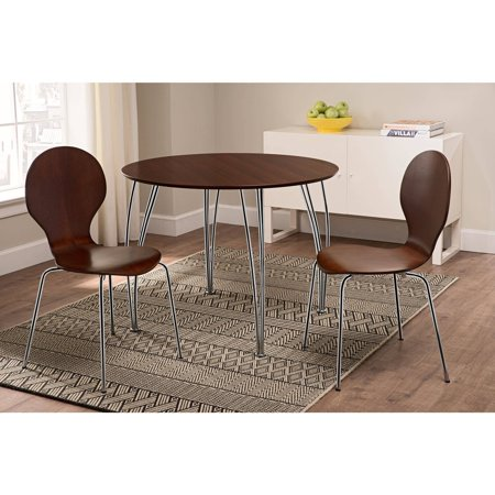- Shell Bentwood Dinette Chairs Multiple Colors, Set of 2, Espresso