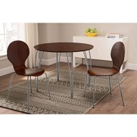 Shell Bentwood Dinette Chairs Multiple Colors, Set of 2, Espresso