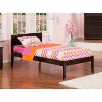 Orlando Twin XL Platform Bed with Open Foot Board in Espresso