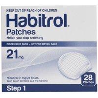 STEP 1 (28 Count) Habitrol Transdermal Nicotine Patches, 21mg, 24hr Stop Smoking Aid