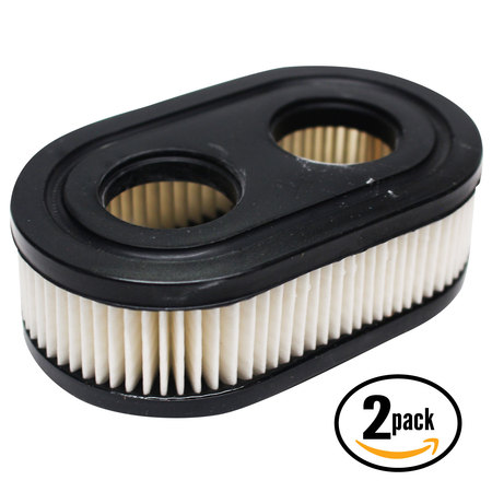 2-Pack Replacement Briggs & Stratton 09P702-0009-F1 Engine Air Filter - Compatible Briggs & Stratton 593260 Filter