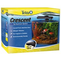 Tetra 5-Gallon Crescent Acrylic Aquarium Kit with Energy Efficient LED