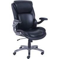 Serta 3-D Active Back Office Managers Chair, with Leather Upholstery and Memory Foam Seat