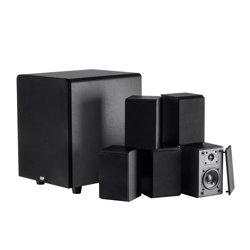 Monoprice 13773 Premium 5.1-Channel Home Theater Speaker with Wireless Subwoofer (Black)