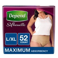 Depend Silhouette Incontinence Underwear for Women, Maximum Absorbency, L/XL, Beige (Choose your count)