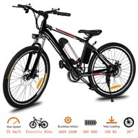 "Hifashion 26"" 21 Speed 36V Electric Mountain Bicycle for Adults with Removable Lithium-ion Battery Integrated Mens Electric Bike, With LED Handlebar Display And LED Headlight"