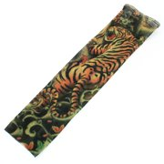Unique Bargains Kids Child Tiger Pattern Temporary Stretch Fake Tattoo Sleeve Arm Stocking Cover
