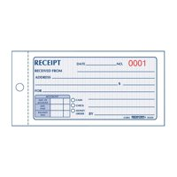 Rediform, RED8L820, Money Receipt 2/Part Collection Forms, 1 Each, White,Yellow