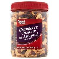 Great Value Cranberry, Cashew & Almond Trail Mix, 29 Oz.